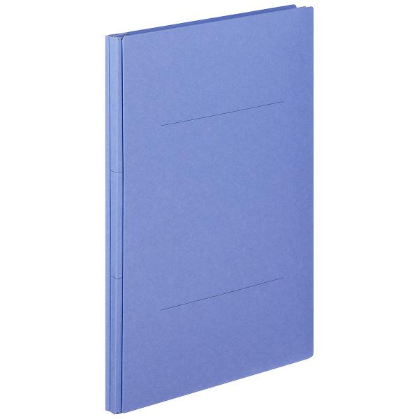 アスクル 背幅伸縮ファイル(PPラミネート表紙) A4タテ ブルー 30冊