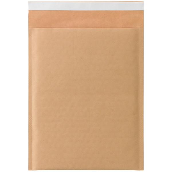 クッション封筒 2枚組CD用 茶 無地 封緘シール付 1箱(200枚入) 今村紙工