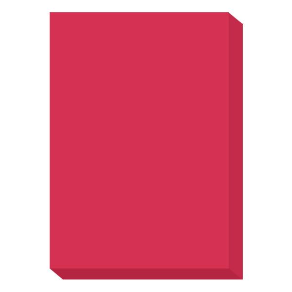 濃色カラーペーパー A4中厚口 赤 1冊(500枚入) 国内生産品