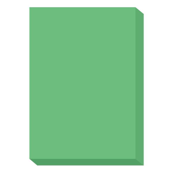 濃色カラーペーパー A4中厚口 緑 1冊(500枚入) 国内生産品