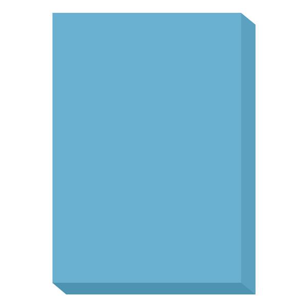 濃色カラーペーパー A4中厚口 青 1冊(500枚入) 国内生産品