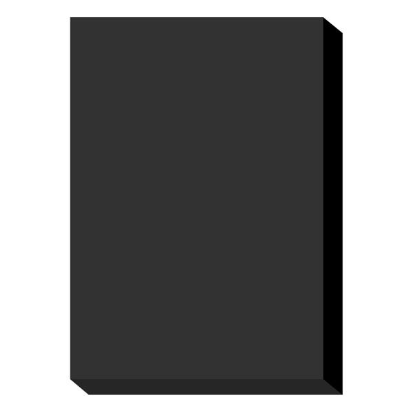 濃色カラーペーパー A4中厚口 黒 1冊(500枚入) 国内生産品