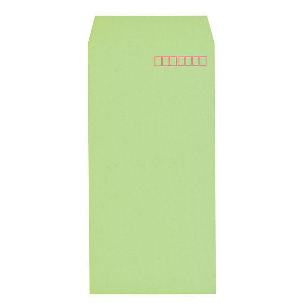 木下水引 エコカラー封筒 長3〒枠あり グリーン(うぐいす) 300枚(100枚×3袋)