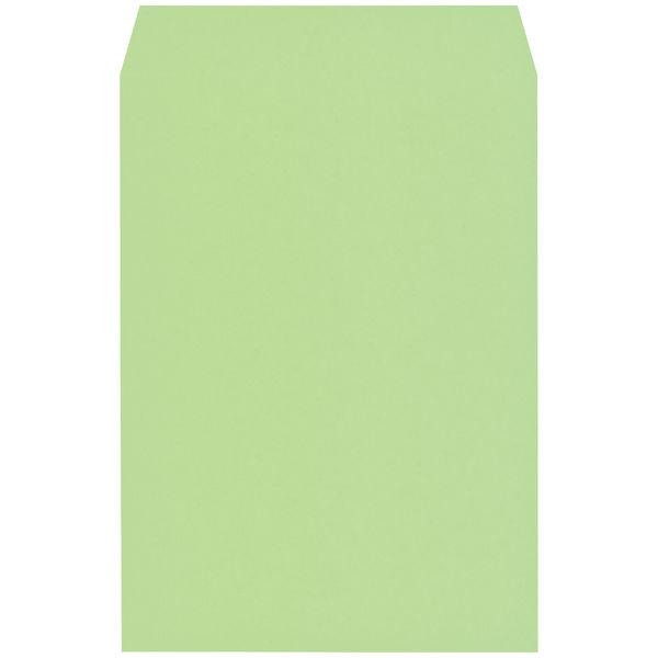 木下水引 エコカラー封筒 角2(A4) グリーン(うぐいす) 500枚(100枚×5袋)