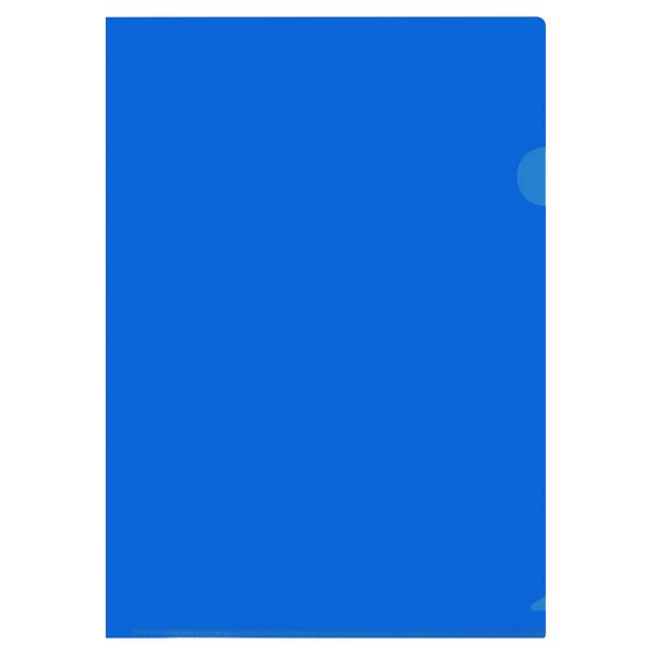 カラークリアホルダー A4 10枚 青