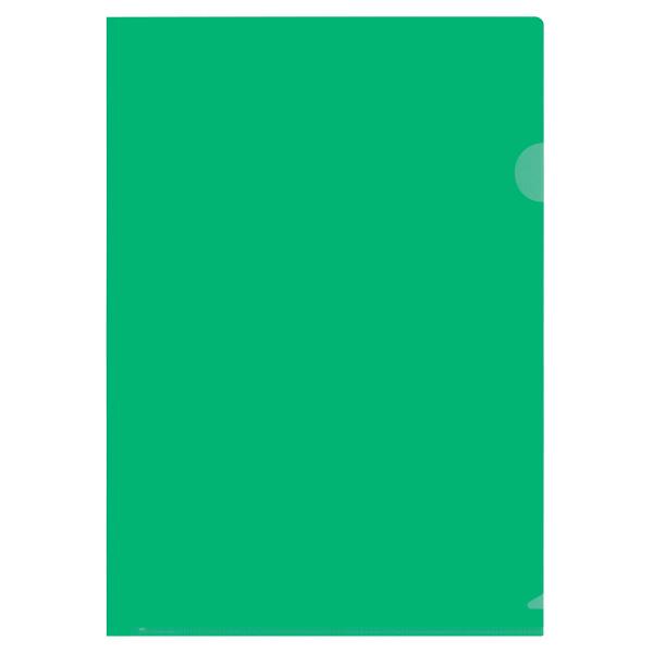 プラス カラークリアホルダー A4 1袋(10枚) 濃色グリーン