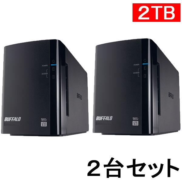 バッファロー 外付けHDD 2TB 2台