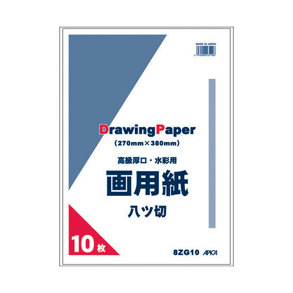 アピカ 8つ切画用紙 10枚 8ZG10 (直送品)