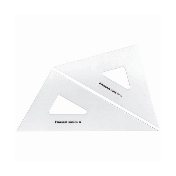 ステッドラー マルス三角定規 ペアセット24cm 964 24 (直送品)