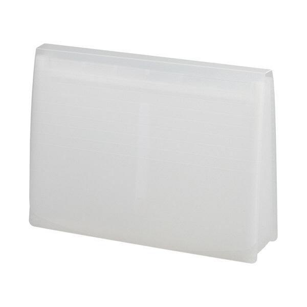 リヒトラブ エクスパンディングファイル 乳白 A-5050-1 (直送品)