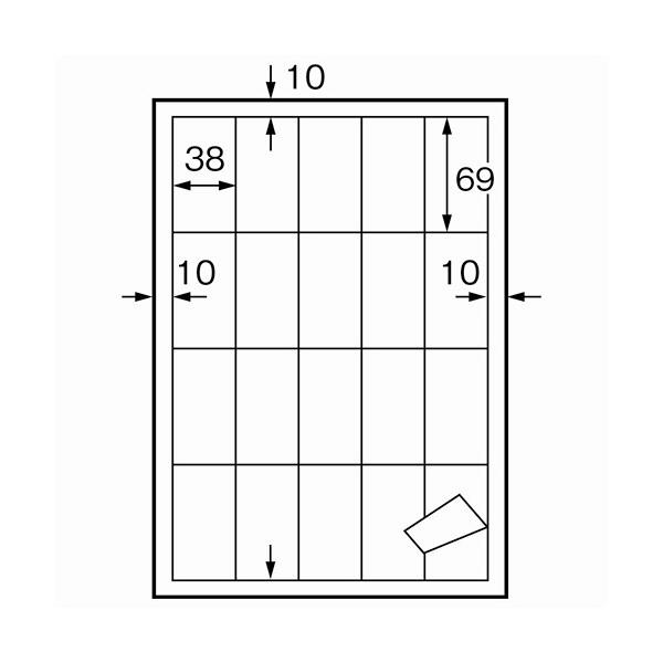 プラス コピーラベル A4/20面 CK-120FS 1個(10000片:20片入×500枚) (直送品)
