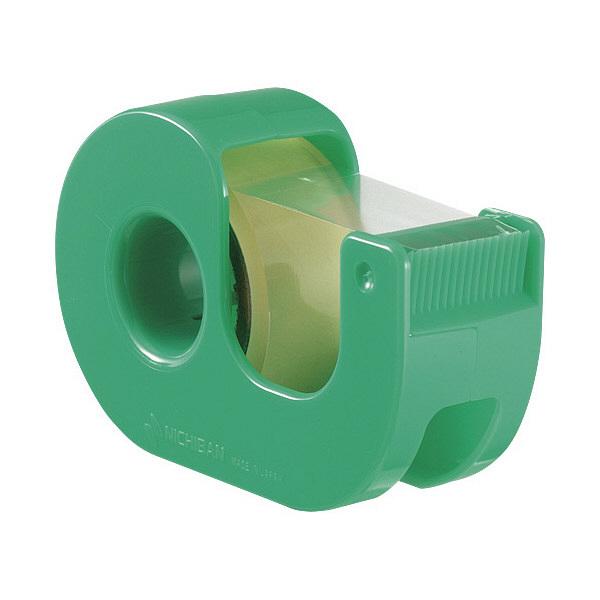 ニチバン ハンドカッター付セロテープ 緑 CT-18DRG (直送品)