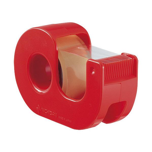 ニチバン ハンドカッター付セロテープ 赤 CT-18DRR (直送品)