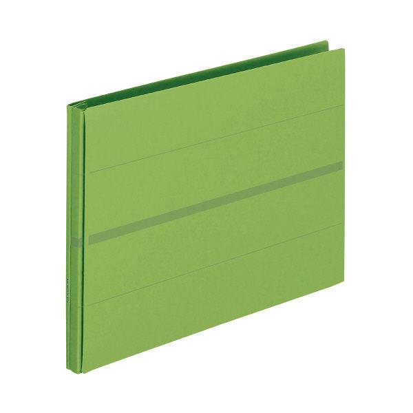 プラス 背幅伸縮フラットセノバス 緑 FL-022SS GR (直送品)