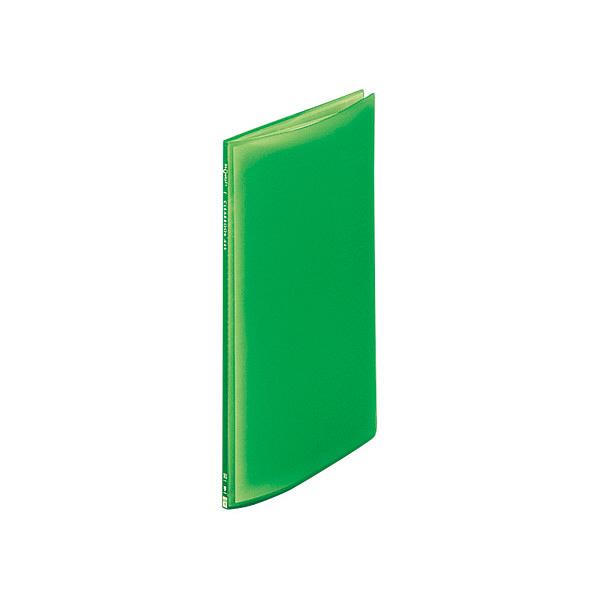リヒトラブ クリヤーブック10P A4S 黄緑 G3100-6 (取寄品)