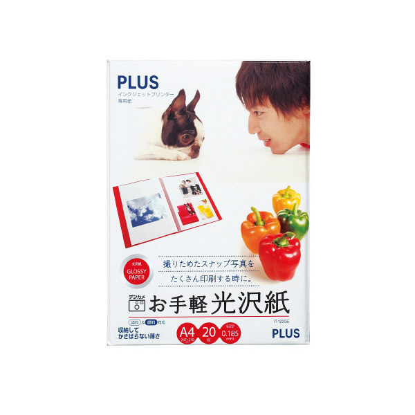 プラス IJお手軽光沢A4 IT-122GE (直送品)