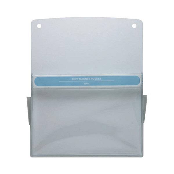 ソニック ソフトマグネットポケット 白 A4 MP-358-W (直送品)