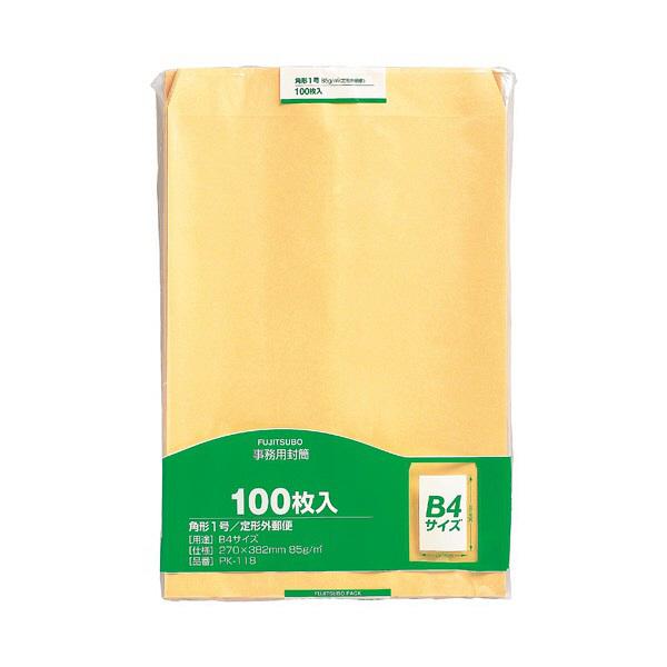 マルアイ 事務用封筒 PK-118 角1 100枚 クラフト 郵便番号枠なし 接着テープ無 (直送品)