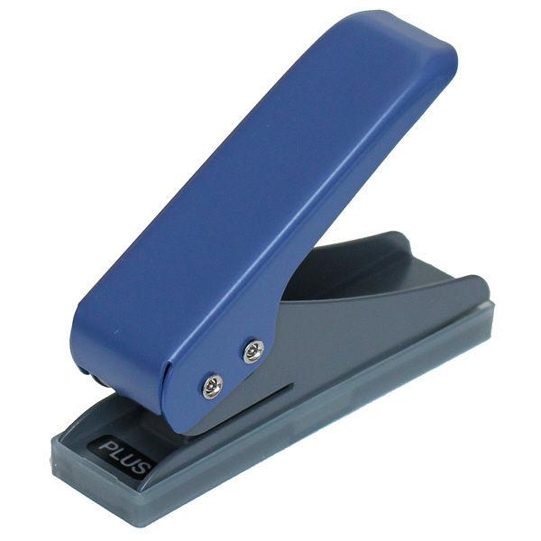 プラス 一穴パンチ ブルー PU-001 (直送品)