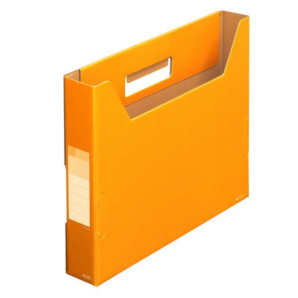 プラス ボックスファイルスリム A4 N FL-022BF (直送品)