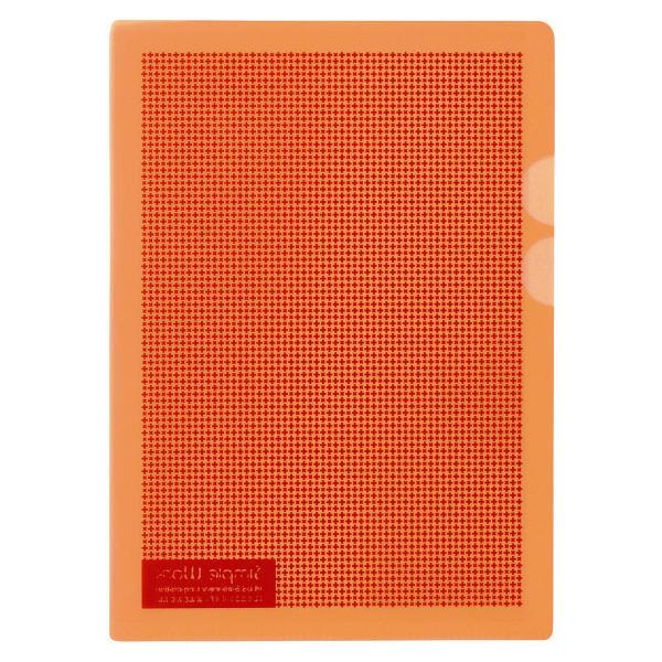 プラス カモフラージュホルダー A5 オレンジ FL-128CH-5P 5枚入(直送品)