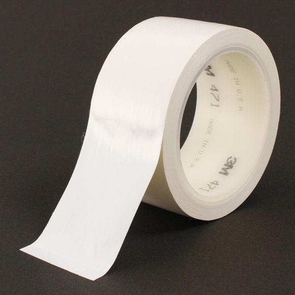 スリーエム ジャパン 3M プラスチックフィルムテープ 471 白 WHI 50X18 R 1巻
