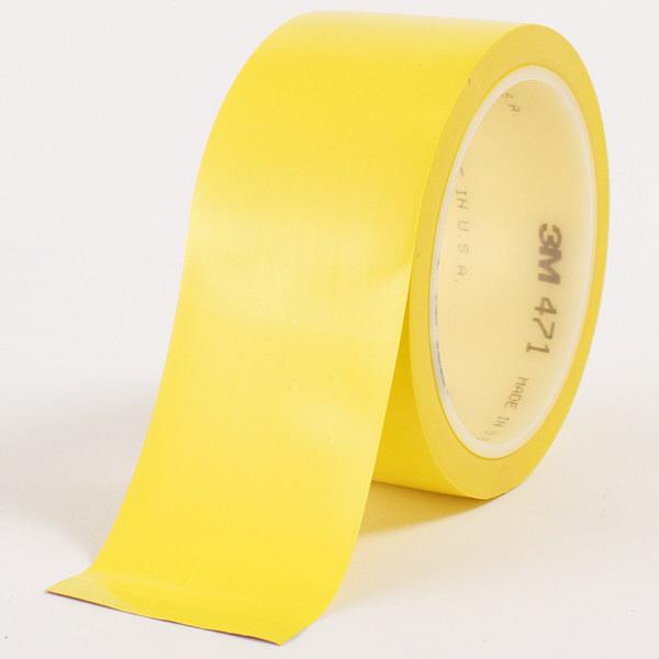 スリーエム ジャパン 3M プラスチックフィルムテープ 471 黄 YEL 50X18 R 1巻