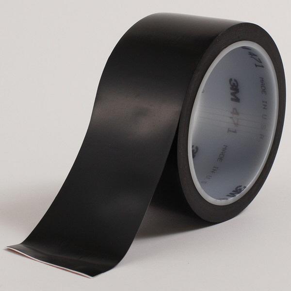 スリーエム ジャパン 3M プラスチックフィルムテープ 471 黒 BLA 50X18 R 1巻