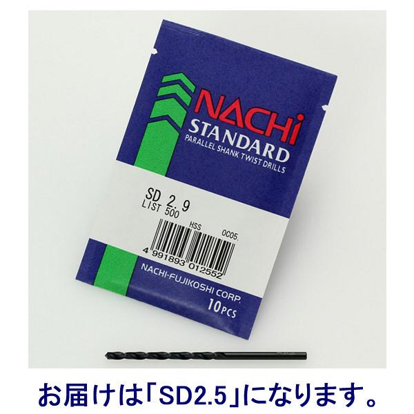 不二越 SD2.5 ハイス ストレートシャンクドリル SD2.5