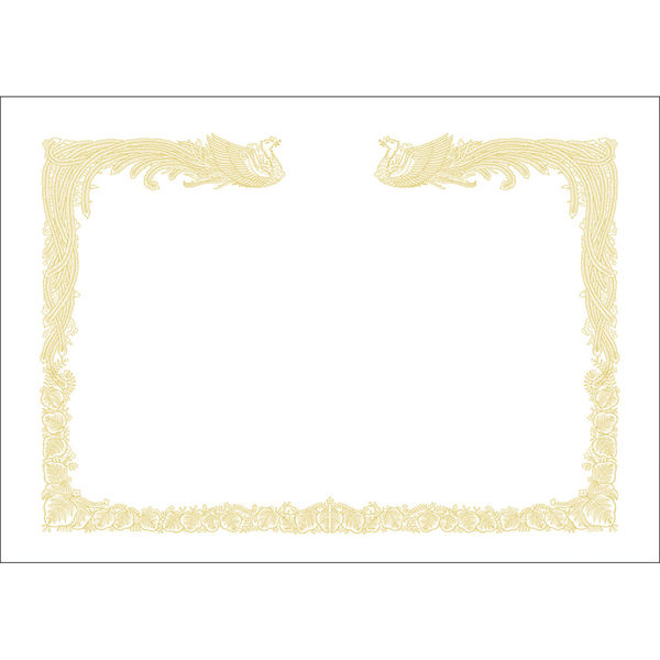 タカ印 OA賞状用紙 雲なし 10-1470 B4横型タテ書き用 白 1箱(100枚入) (取寄品)