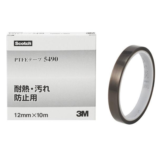 スリーエム ジャパン 3M PTFEテープ 12mmx10m 5490 12X10 R 1セット(1個×3)