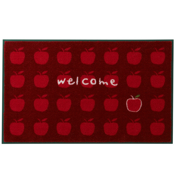 玄関マット りんごがいっぱい