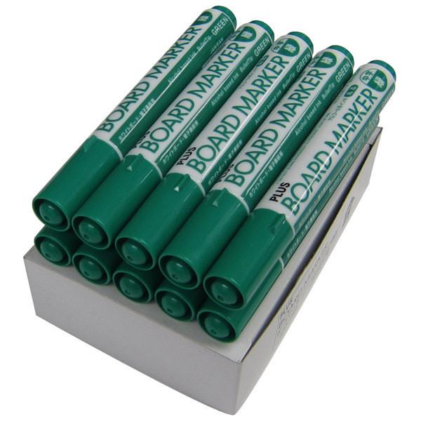 プラス ホワイトボード用マーカー グリーン 1セット(10本入) (取寄品)
