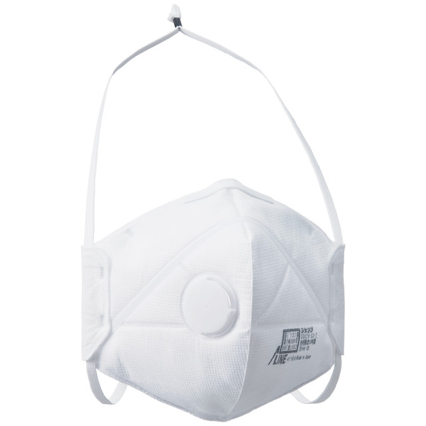 SHIGEMATSU WORKS(重松製作所) DS2 使い捨て式防じんマスク 排気弁付き DD02V-S2-2 1箱(100枚:10枚入×10箱)