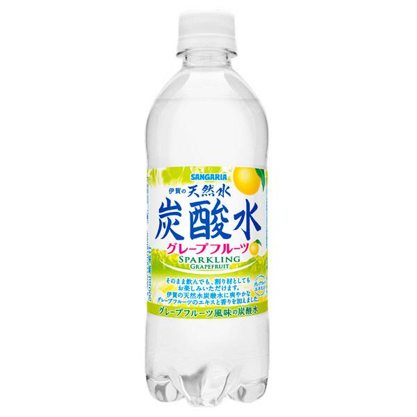 天然水炭酸水グレープフルーツ 24本