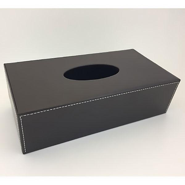 I-Lex 合皮ティッシュボックス ブラウン 1セット(3個:1個×3) I-Lex I-Lex