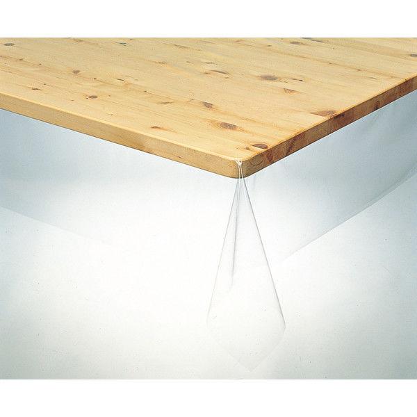 明和グラビア 3点機能付 透明ビニールテーブルクロス 120cm×150cm KMGK-1815 1枚