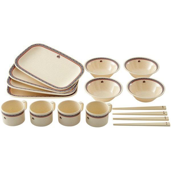 ナバホ パーティー箸付き食器セット4人用