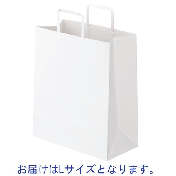 平紐 手提げ紙袋 白 L 150枚