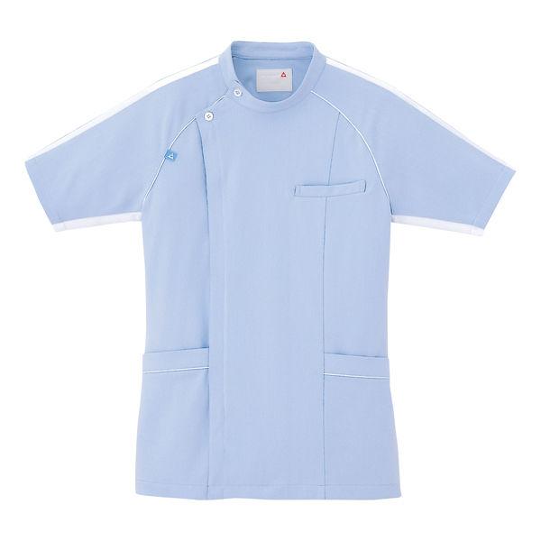 ルコックスポルティフ メンズジャケット(サイドファスナー 医務衣) UQM1001 ブルー LL (直送品)