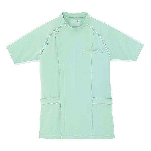 ルコックスポルティフ メンズジャケット(サイドファスナー 医務衣) UQM1001 グリーン LL (直送品)