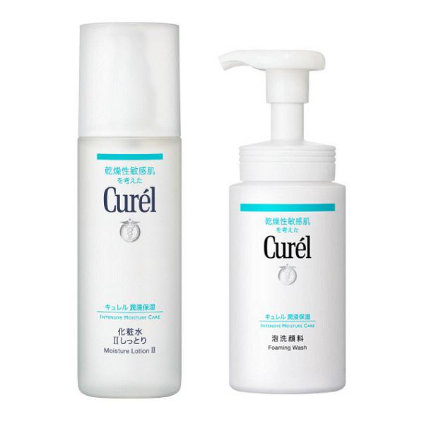 キュレル化粧水2しっとり+泡洗顔料セット