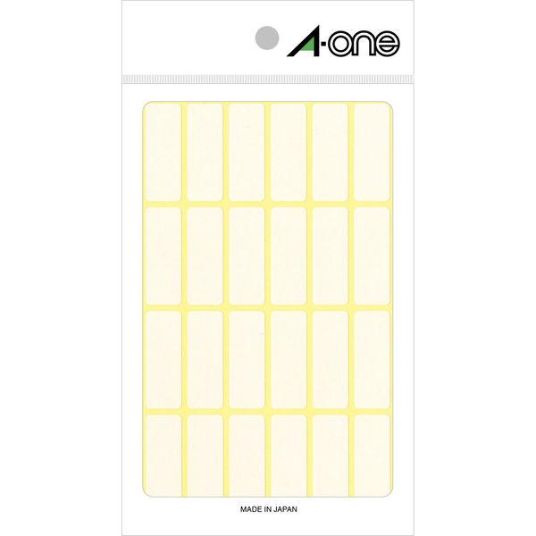 エーワン フリーラベル 整理・表示用 手書き用 上質紙 白 1片(12×33mm) 1袋(15シート 360片入) 06003(取寄品)