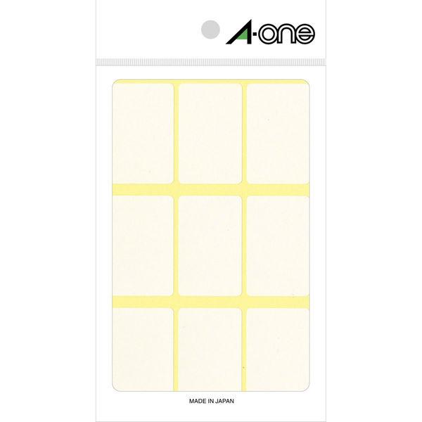 エーワン フリーラベル 整理・表示用 手書き用 上質紙 白 1片(27×43mm) 1袋(15シート 135片入) 06011(取寄品)