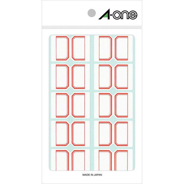 エーワン インデックスラベル 大 整理・表示用 手書き用 上質紙 赤枠付き 1片(26×38mm) 1袋(15シート 150片入) 04003(取寄品)