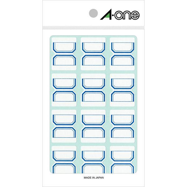 エーワン インデックスラベル 中 整理・表示用 手書き用 上質紙 青枠付き 1片(24×32mm) 1袋(15シート 180片入) 04006(取寄品)