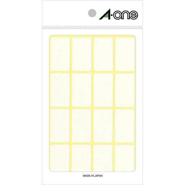 エーワン フリーラベル 整理・表示用 手書き用 上質紙 白 1片(19×33mm) 1袋(15シート 240片入) 06005(取寄品)