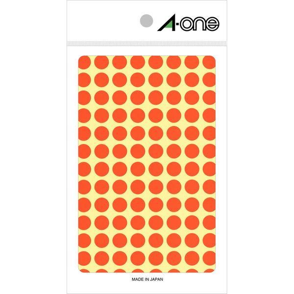 エーワン カラーラベル 丸シール 整理・表示用 光沢コート紙 橙 1片( 9mmφ 丸型) 1袋(14シート 1456片入) 07005(取寄品)
