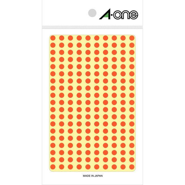 エーワン カラーラベル 丸シール 整理・表示用 光沢コート紙 橙 1片(5mmφ 丸型) 1袋(9シート 1800片入) 07065(取寄品)