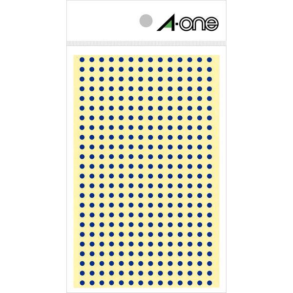 エーワン カラーラベル 丸シール 整理・表示用 光沢コート紙 青 1片(3mmφ 丸型) 1袋(4シート 1344片入) 07682(取寄品)